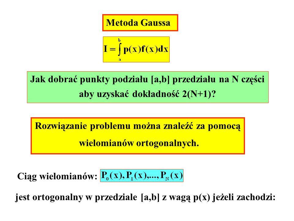 Jak dobrać punkty podziału [a,b] przedziału na N części